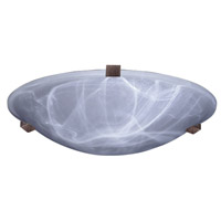PLC Lighting 7016RULED Nuova LED 16 inch Rust Flush Mount Ceiling Light