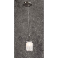 PLC Lighting Ice III 1 Light Mini Pendant in Satin Nickel 7203-SN