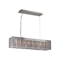 PLC Lighting Devine Chandelier in Polished Chrome with Clear Glass 72103-PC