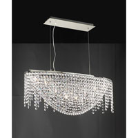 PLC Lighting Prism Chandelier in Polished Chrome with Clear Glass 72105-PC