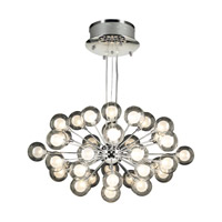 PLC Lighting Coupe Chandelier in Polished Chrome with Clear Glass 72108-PC