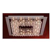 PLC Lighting Petula Flush Mount in Aluminum & Polished Chrome with Clear Glass 72116-AL/PC