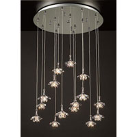 PLC Lighting Confuzion Chandelier in Polished Chrome with Clear Glass 72148-PC photo thumbnail