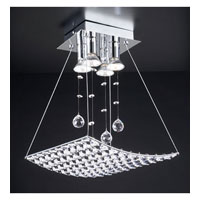 PLC Lighting Cereus Flush Mount in Polished Chrome with Clear Glass 72153-PC