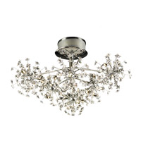 PLC Lighting Firework Flush Mount in Polished Chrome with Clear Glass 72165-PC