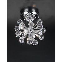 PLC Lighting Aspasia Flush Mount in Polished Chrome with Clear Glass 72171-PC