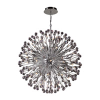PLC Lighting Aspasia Chandelier in Polished Chrome with Clear Glass 72178-PC