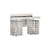 PLC Lighting Rigga Vanity in Polished Chrome with Clear Glass 72192-PC
