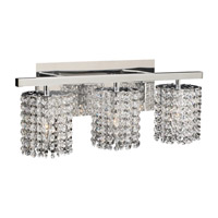PLC Lighting Rigga Vanity in Polished Chrome with Clear Glass 72194-PC