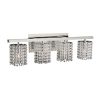PLC Lighting Rigga Vanity in Polished Chrome with Clear Glass 72196-PC