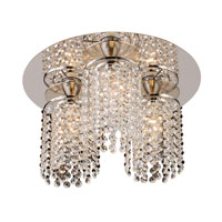 Rigga 3 Light 14 inch Polished Chrome Semi-Flush Mount Ceiling Light