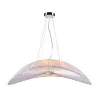 Enola 4 Light 35 inch Ivory Pendant Ceiling Light in GU24