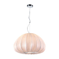 PLC Lighting 73004IVORY318GU24 Dente 3 Light 24 inch Ivory Pendant Ceiling Light in GU24