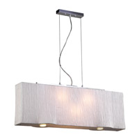 PLC Lighting Leona Pendant in Ivory with Ivory Silk Shade Glass 73008-IVORY
