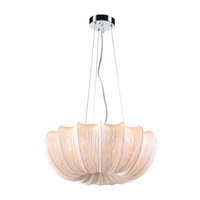 PLC Lighting Saluna 5 Light Pendant in Ivory 73009IVORY