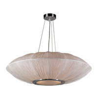 Mars 4 Light 34 inch Ivory Pendant Ceiling Light in Ivory Silk Shade