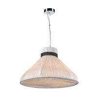 PLC Lighting 73020IVORY Nepro 5 Light 24 inch Polished Chrome Pendant Ceiling Light in Incandescent