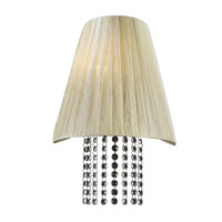 PLC Lighting Angelina Sconce in Beige with Biege Silk Shade Glass 73028/CFL-BEIGE