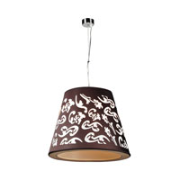 PLC Lighting Infinity 1 Light Pendant in Polished Chrome 73037-BLACK