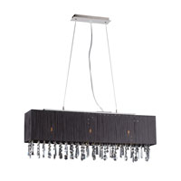PLC Lighting Vibba 3 Light Pendant in Polished Chrome 73052-BLACK