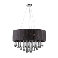 PLC Lighting Rain 6 Light Chandelier in Polished Chrome 73056-BLACK photo thumbnail