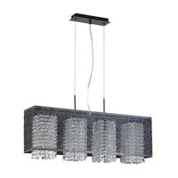 PLC Lighting Virginia 4 Light Pendant in Black 73058-BLACK