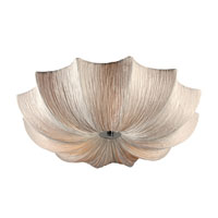 Casa 3 Light 21 inch Polished Chrome Flush Mount Ceiling Light