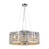 PLC Lighting Mondrian 6 Light Halogen Pendant in Polished Chrome 73078-PC