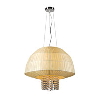 PLC Lighting Tourou 3 Light Pendant in Polished Chrome 73082-BEIGE