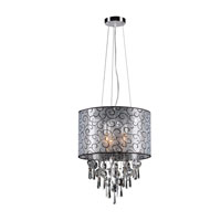 PLC Lighting Alice 3 Light Pendant in Polished Chrome 73085-PC