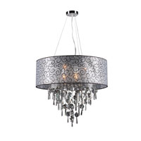 PLC Lighting Alice 6 Light Pendant in Polished Chrome 73088-PC