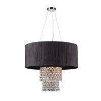 PLC Lighting Marquis 9 Light Chandelier in Polished Chrome 73090-BLACK