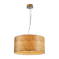 PLC Lighting Leopard 5 Light Pendant in Polished Chrome 73097PC513GU24