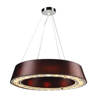 PLC Lighting Veranda 8 Light Pendant in Polished Chrome 73099-BLACK