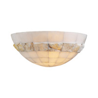 PLC Lighting Sua 1 Light Wall Sconce in Natural Alabaster 7312