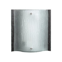 PLC Lighting Leela Sconce in Polished Chrome with Etched Glass 7536-PC