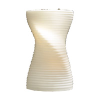 PLC Lighting Scudo 1 Light Wall Sconce in Opal 7541-OPAL