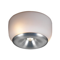 PLC Lighting Nelly Flush Mount in Aluminum with Matte Opal Glass 76033-AL