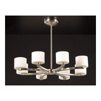 PLC Lighting De Lion Pendant in Satin Nickel with Matte Opal Glass 7619-SN