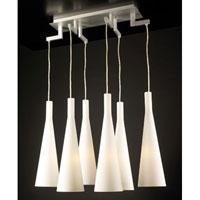 PLC Lighting Magista Chandelier in Aluminum with Matte Opal Glass 7636-AL photo thumbnail