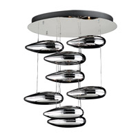 PLC Lighting Aquarium Chandelier in Polished Chrome with Silvered Glass Glass 76763-PC