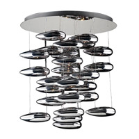 PLC Lighting Aquarium Chandelier in Polished Chrome with Silvered Glass Glass 76765-PC