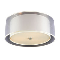 PLC Lighting Merritt 3 Light Flush Mount in Polished Chrome 7676-PC