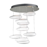 PLC Lighting Aquarium Chandelier in Polished Chrome with Opal Glass 76863-PC