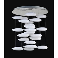 PLC Lighting Aquarium 28 Light Chandelier in Polished Chrome 76865-PC