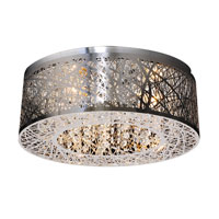 Nest 3 Light 16 inch Polished Chrome Flush Mount Ceiling Light