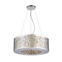 PLC Lighting Nest 6 Light Halogen Pendant in Polished Chrome 77748-PC
