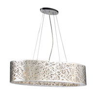 PLC Lighting Nest 6 Light Pendant in Polished Chrome 77749-PC