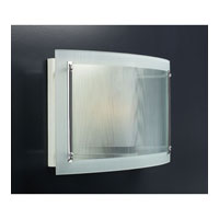 PLC Lighting Millennium Sconce in Polished Chrome with Ribbed Clear Glass 7789-PC