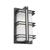 PLC Lighting Gulf Outdoor Wall Sconce in Bronze with Frost Glass 8012/CFL-BZ